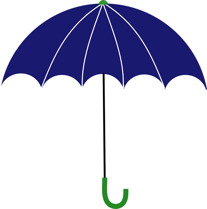 Umbrella, Protection, Weather, Rain, Cover, Blue