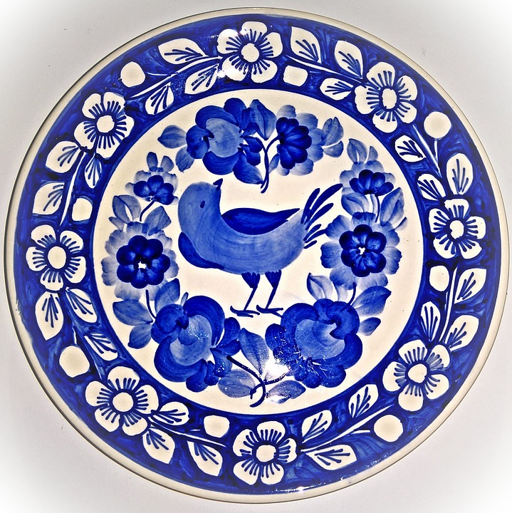 Porcelain Plate, Wall Plate, Delft Style, Blue White