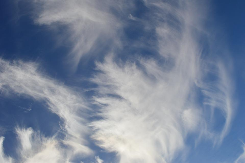 Sky, Clouds, Wind, Blue