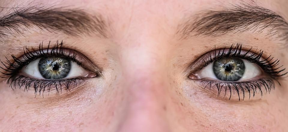 Eyes, Woman, Female, Close Up, Eyelashes, View, Blue