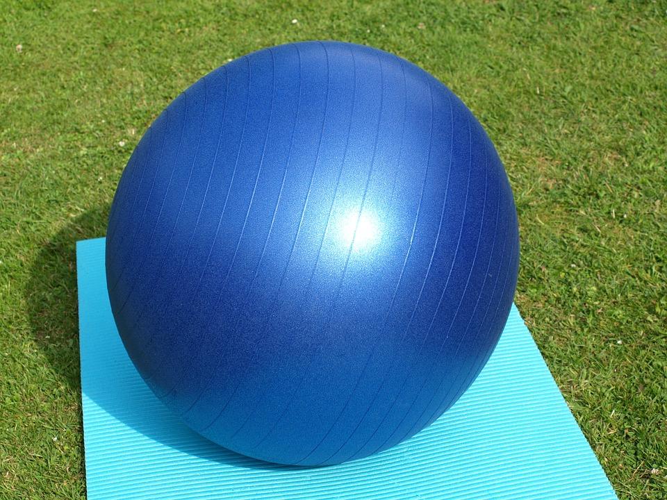 Exercise Ball, Large, Blue, Gymnastics, Yoga, Sport