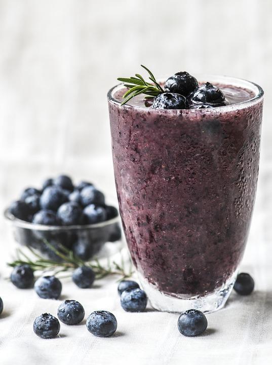 Antioxidant, Beverage, Blended, Blueberries, Blueberry