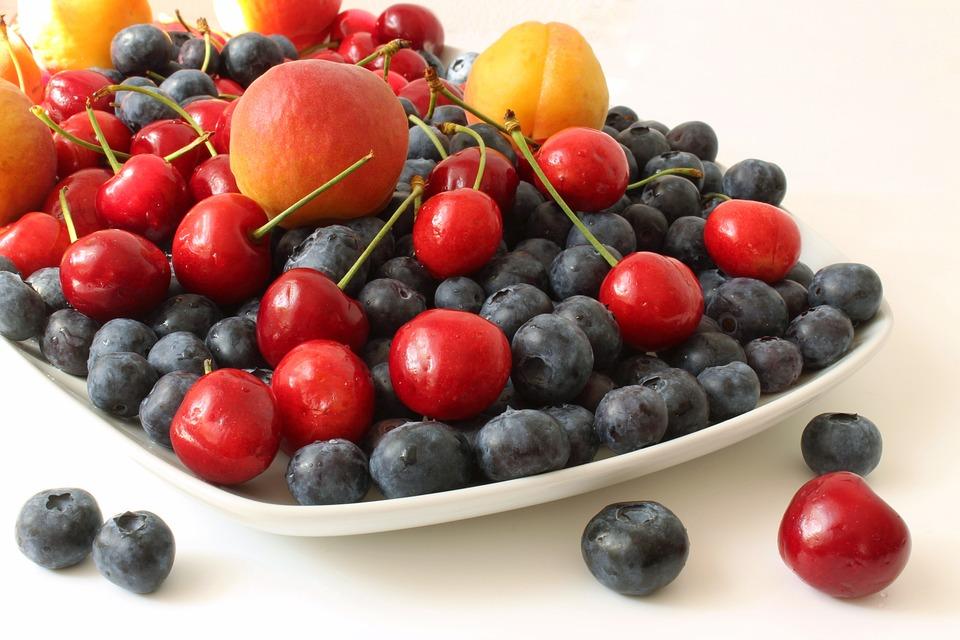 Fruit, Blueberries, Vitamins, Apricots, Cherries