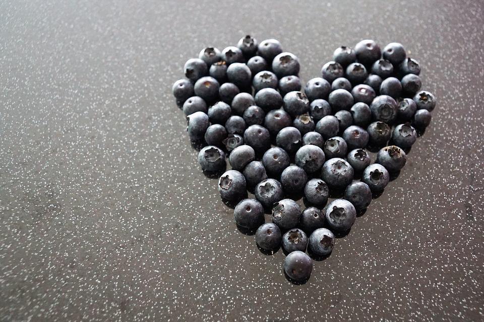 Heart, Love, Blueberries, Valentine's Day, Together
