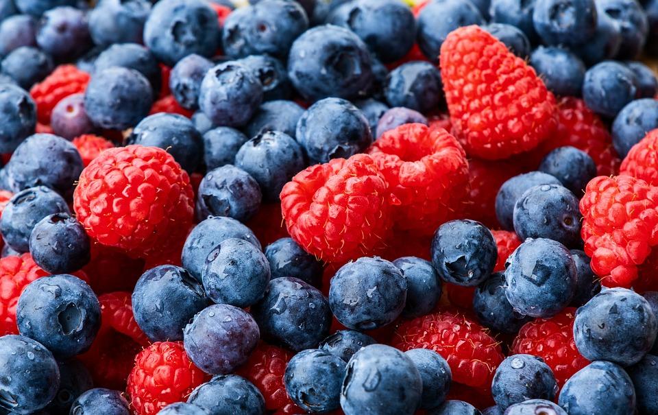 Raspberries, Blueberry, Fruit, Black Berry, Food, Fresh