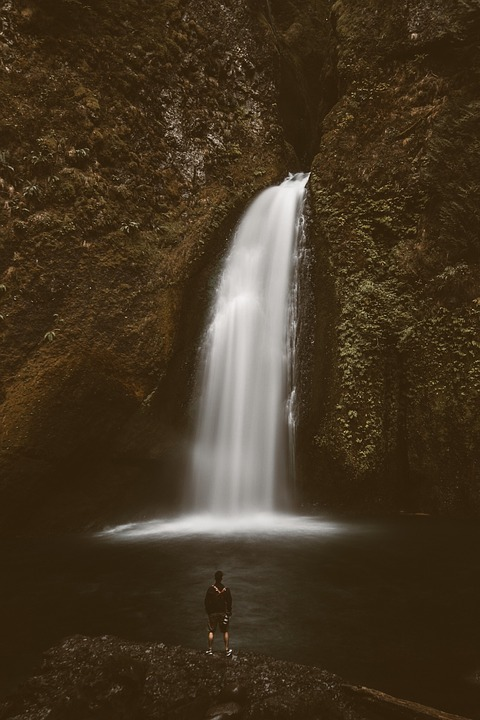 Waterfall, Water, Autumn, Fall, Blur, Rain, Landscape