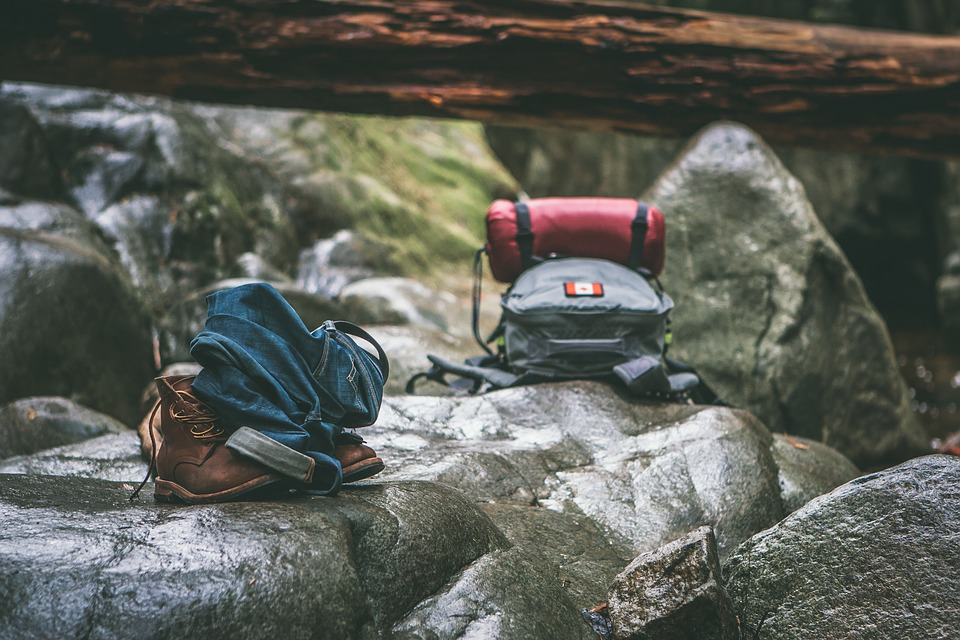 Backpack, Blur, Boots, Close-up, Environment, Focus