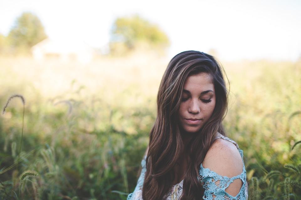 Beautiful, Blur, Close-up, Dress, Field, Focus, Girl