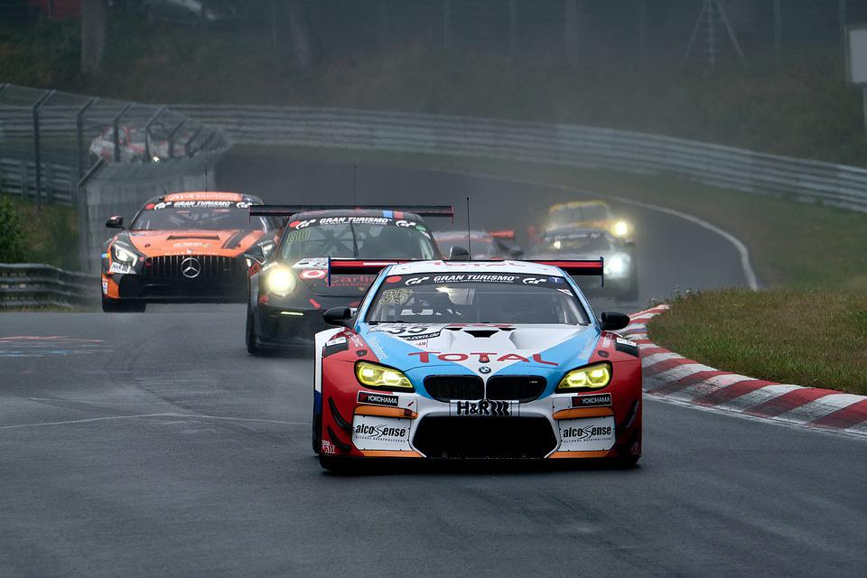 Car Racing, Motorsport, Racing Car, Bmw, Sport, Rain