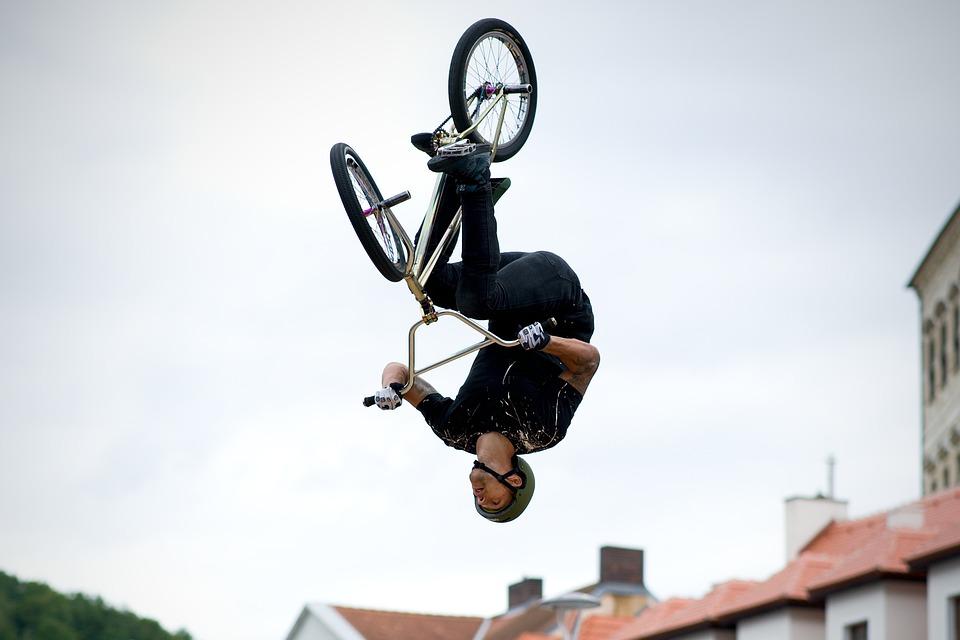 Bmx, Freestyle, Round, Acrobatics, Acrobat, Jump, Sport