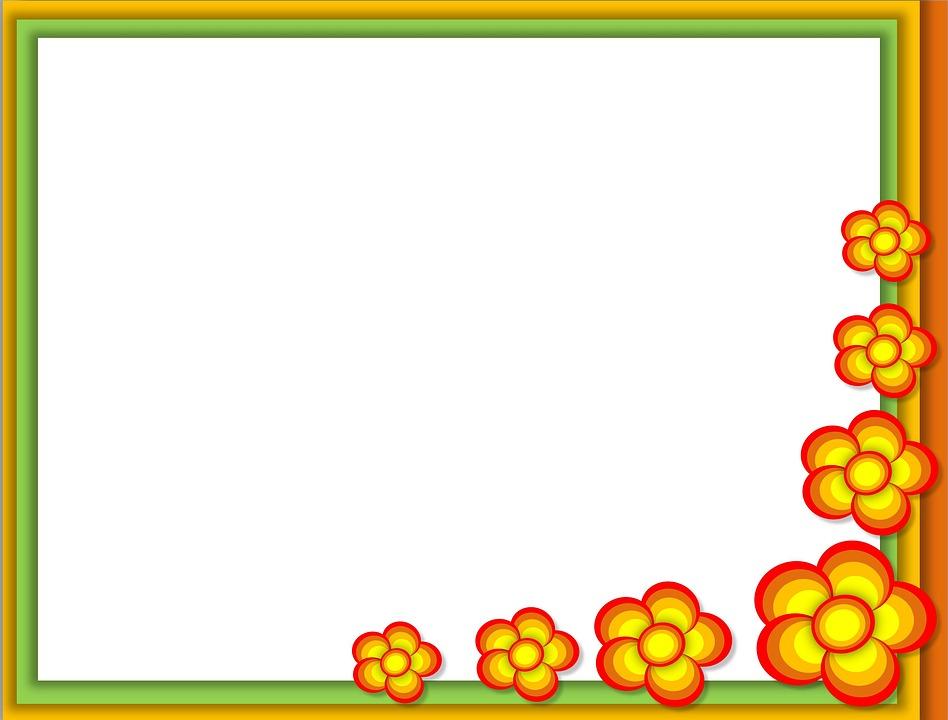 Background, Boarder, Board, Frame, Flower, Paper