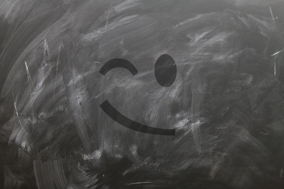 Board, School, Emoticon, Smiley, Wink, Blind Eye, Smile