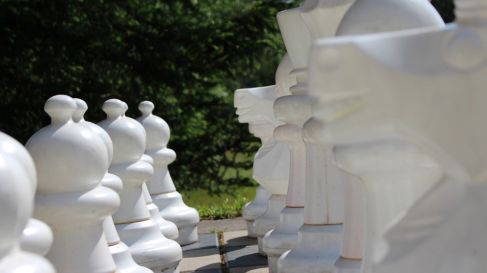 Chess, Chess Board, Park, Xxl, Board Game, Chess Pieces