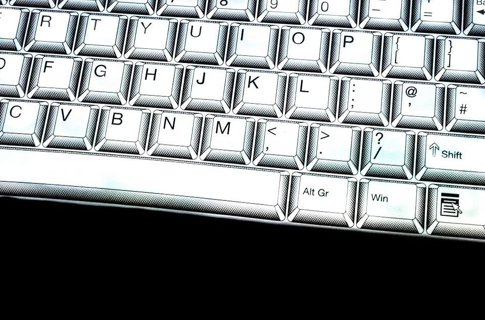 Keyboard, Key, Board, White, Laptop, Enter, Background
