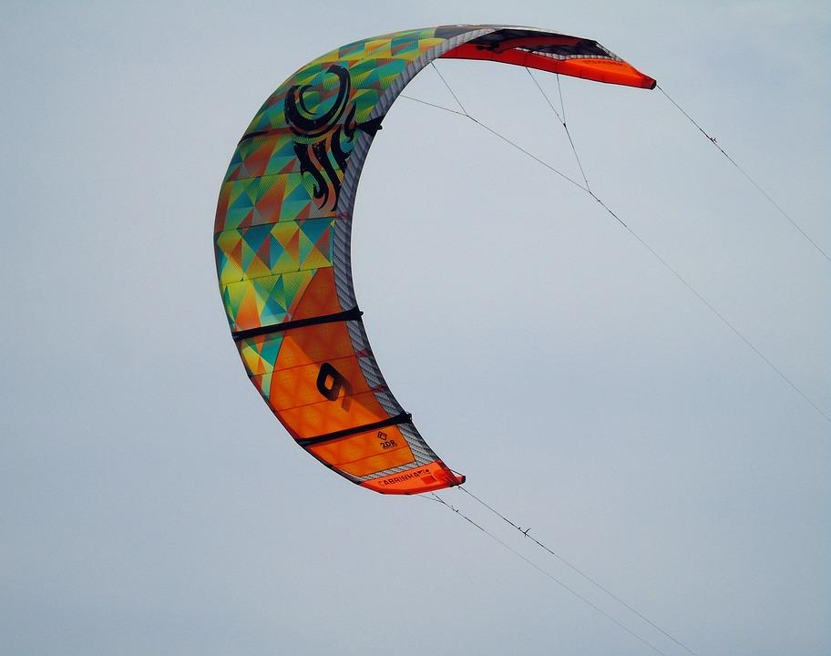 Kite, Surfer, Surf, Water, Sport, Boarding, Board, Wave