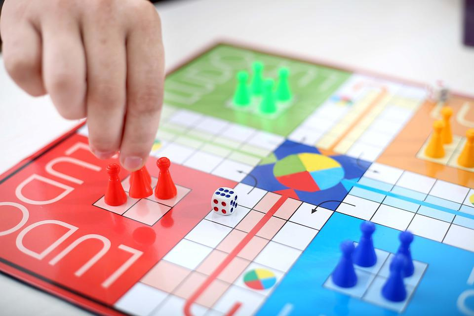 Game, Board, Ludo, Dice, Blue, Yellow, Red, Luck, Play