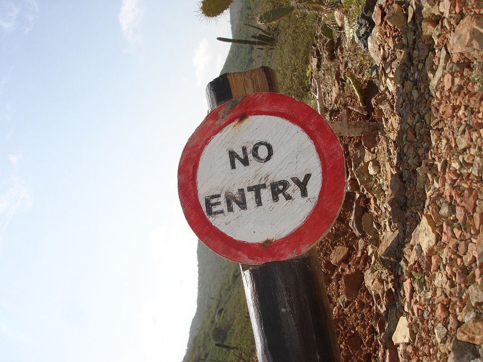 No Access, Board, Forbidden