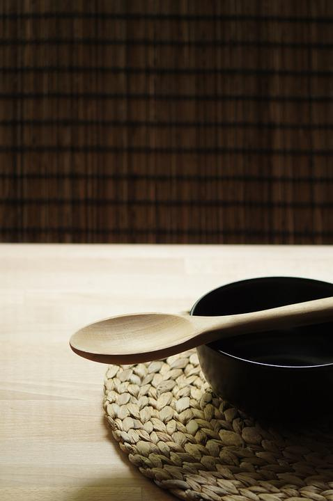 The Bowl, Board, The Background, Wood, Spoon, Texture