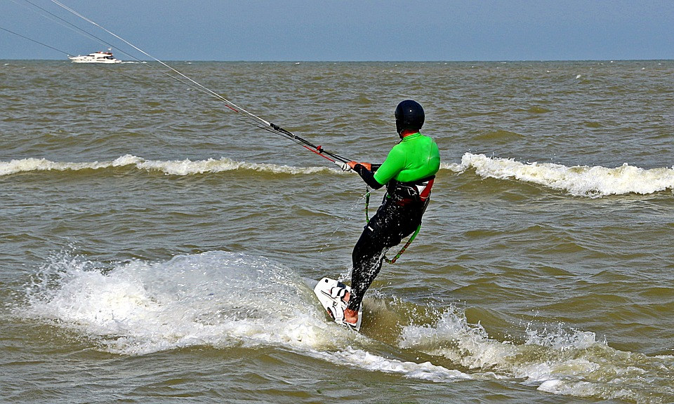 Kite Surfing, Surf Water, Sea, To Hold On, Board