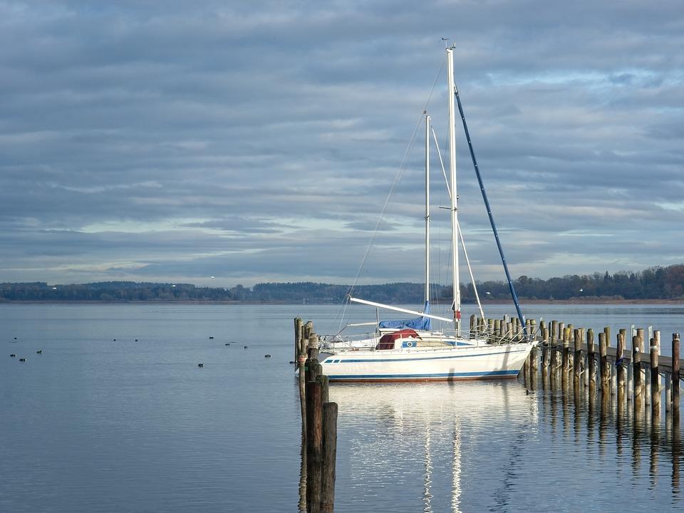 Boardwalk, Jetty, Web, Lake, Pier, Chiemsee, Dock