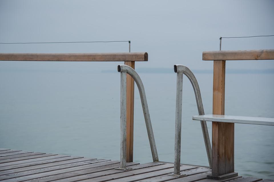 Web, Railing, Water, Stairs, Lake, Boardwalk, Nature