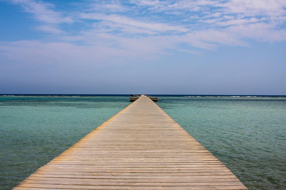Web, Sea, Red Sea, Marsa Alam, Egypt, Boardwalk