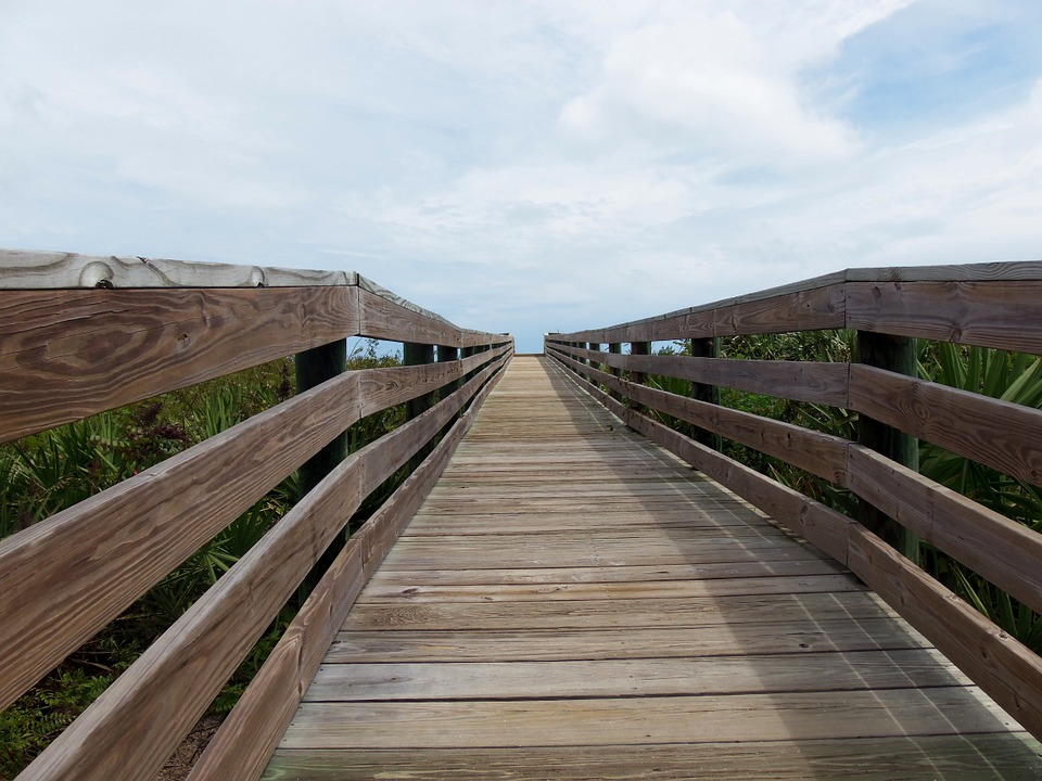 Boardwalk, Sky, Summer, Beach, Relaxation, Silence