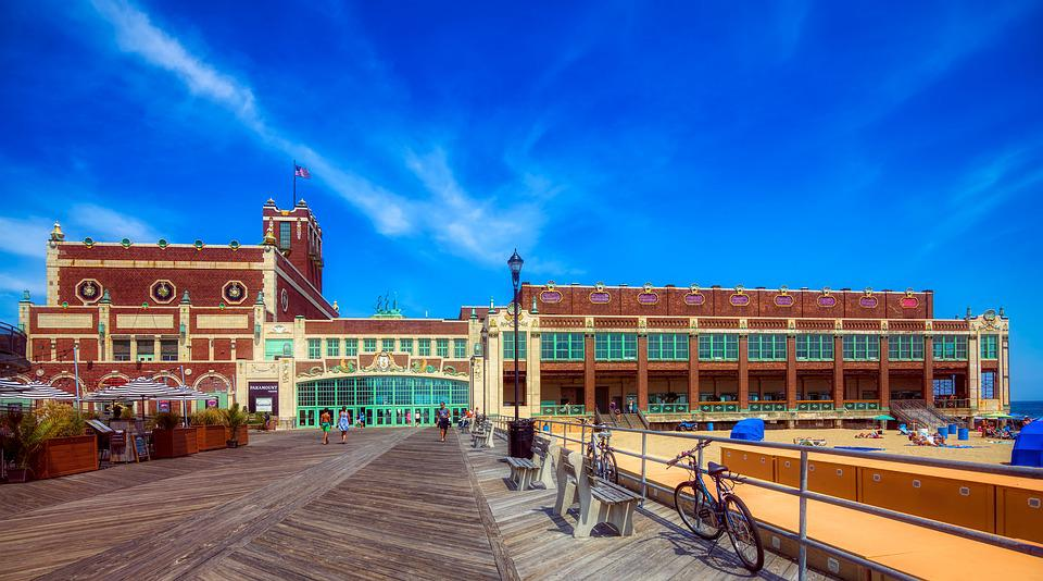 Paramount Theatre, Asbury Park, Tourism, Boardwalk, Sky