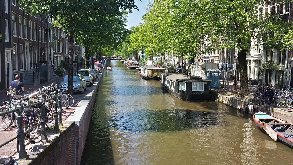 Amsterdam, Boat, Street, Canal