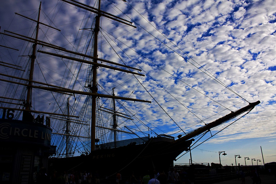 Boat, Sail, Sailing, Sky, Cloud, Blue