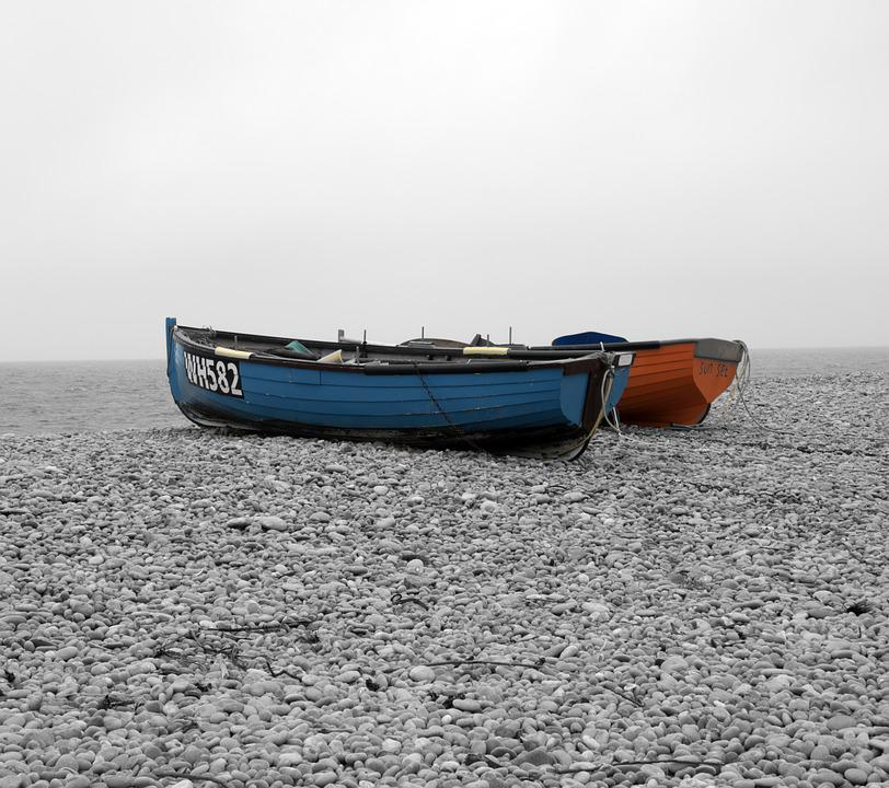 Rowing Boats, Chesil Beach, Boat, Chesil, Dorset