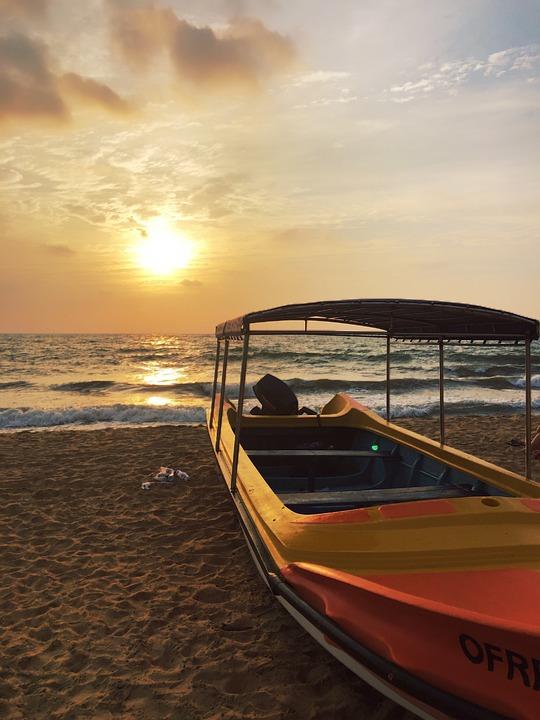Sunset, Boat, Beach, Feeling