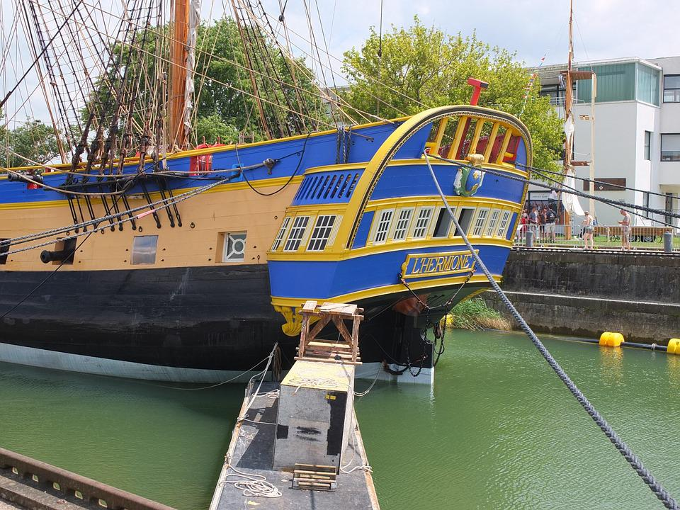 La Fayette, Frigate Hermione, France, Boat, Maritime