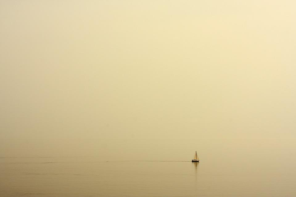 Boat, Haze, Ship, Alone, Marine, Water, Melancholic