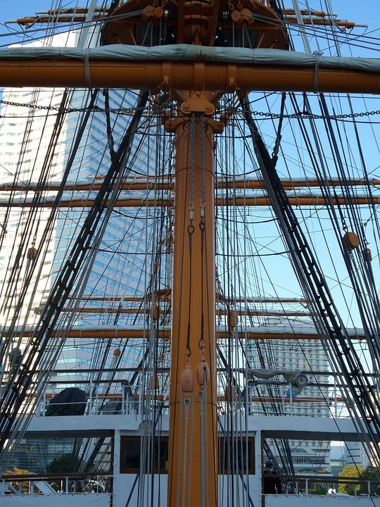 Boat, Ship, Japan, Nipponmaru, Sail, Mast, Vessel