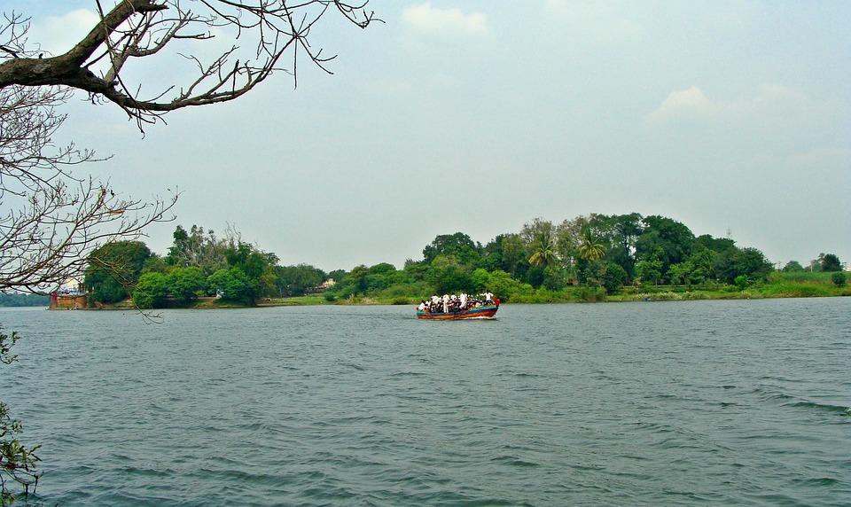 Krishna River, Boat, Island, Bagalkot, Karnataka, India