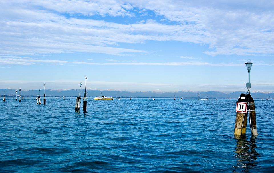 Italy, Venice, Venezia, Lagoon, Sea, Boat, Horizon