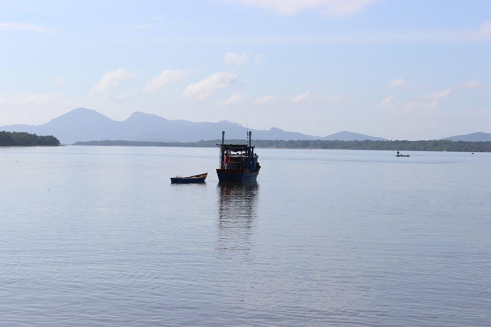 Ocean, Blue, Boat, Fishing, Tranquility, Landscape