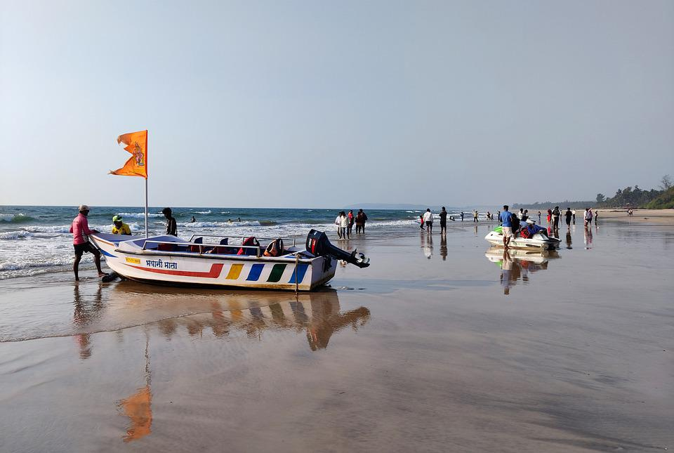 Beach, Maharashtra, Ganpati Phule, Boat, India