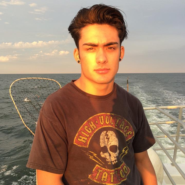 Fishing, Young Man, Male, Fisherman, Boat