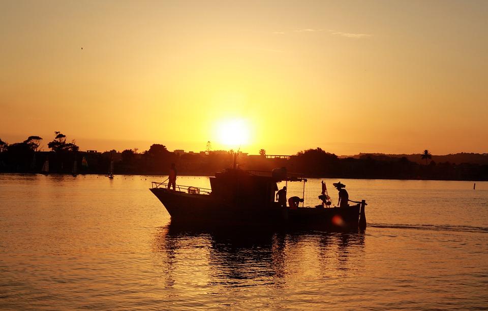 Boat, Backlight, Water, Sea, Mediterranean, Landscape