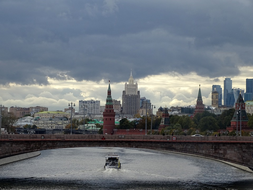 Moscow, Clouds, Moscow River, Boat, Tourism, Sky