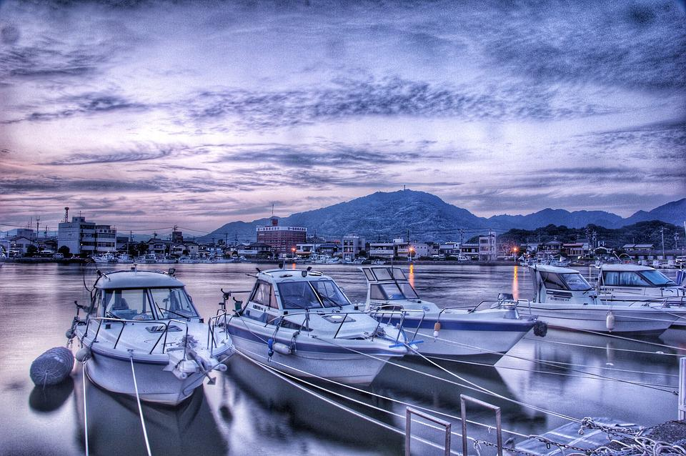 Port, Sea, Boat, Landscape, Nature, Natural, Japan