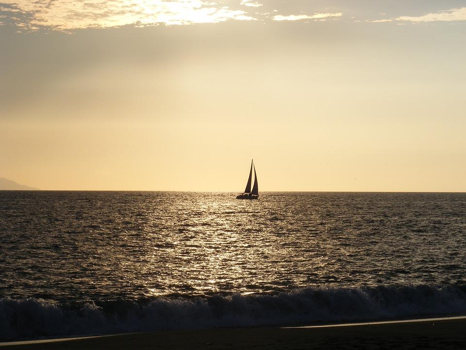 Boat, Sunset, Water, Travel, Vacation, Ocean, Summer