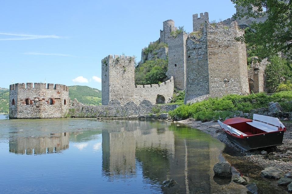 đerdap, Serbia, Castle, River, Old, Fortress, Boat