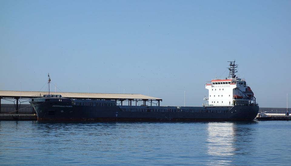 Boat, Port, Sea, Merchant, Docked, Blue