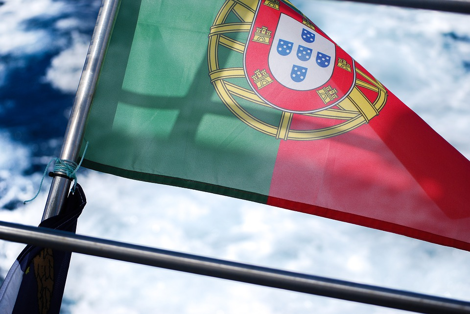 Flag, Portugal, Boat, Stern