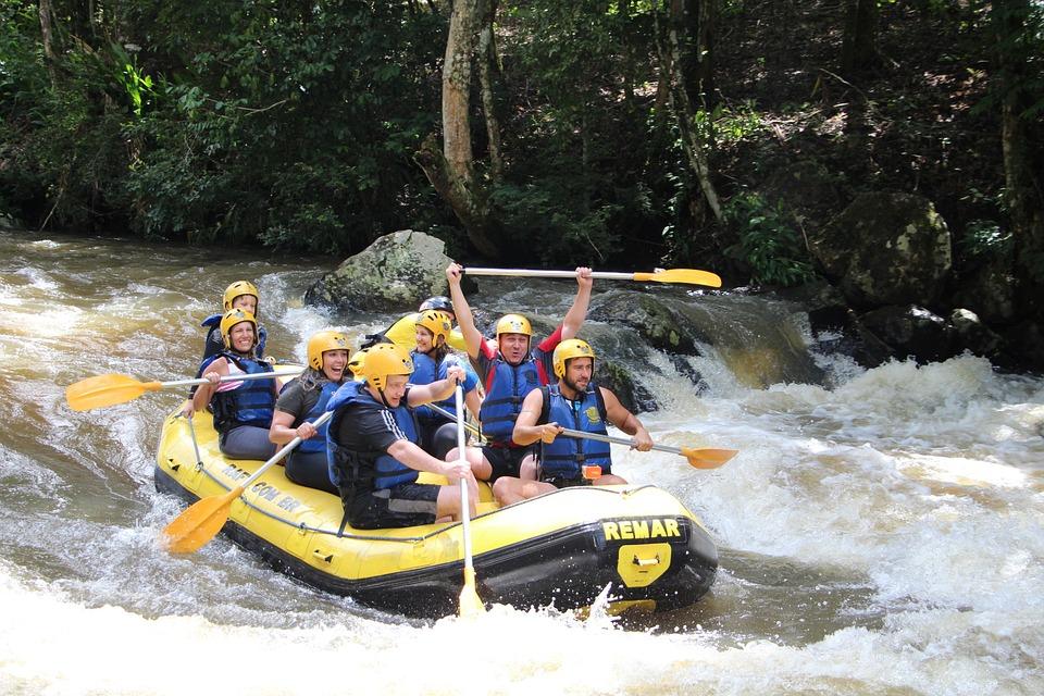 Rafting, Boat, Rapids