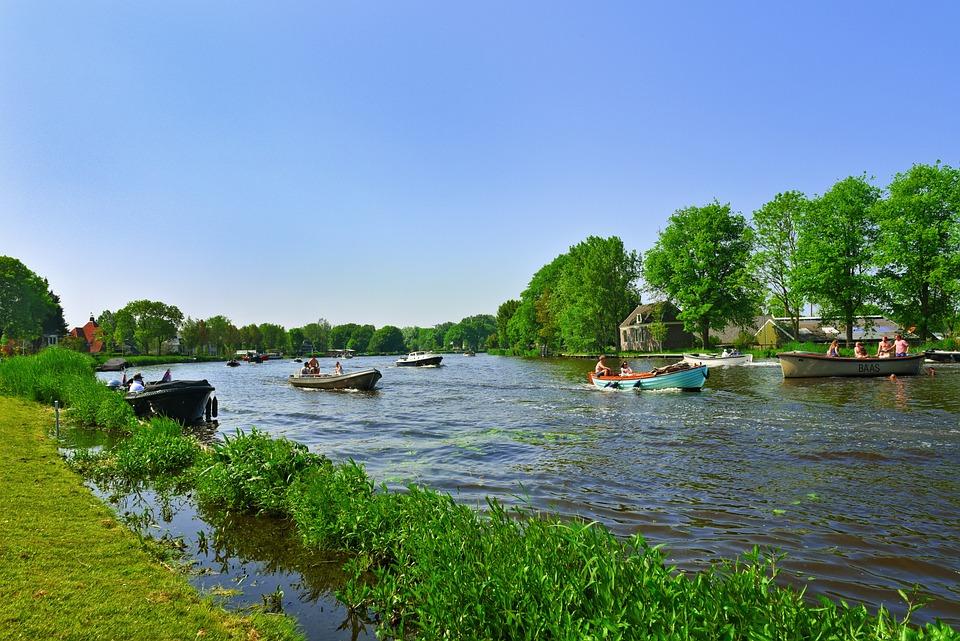 River, Water, Boat, Recreation, Boating, Pleasure, Fun