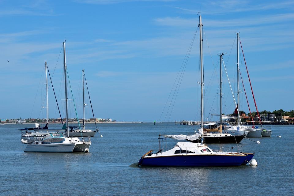 Sailboats, Boat, River, Water, Sea, Ocean, Sail